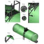Лестница с площадкой для химстойкой транспортной емкости ЛПХТ