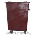 Контейнер для отходов ТБО V-0.75 м3 с крышкой и колесами