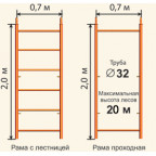 Рамные леса ЛР 20 секция 2х0,7х3м