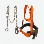 Удерживающая страховочная привязь с наплечными лямками УПС 2ГД