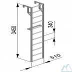Лестницы навесные алюминиевые для полувагонов ЛНА 1500