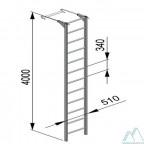 Лестница навесная алюминиевая со стальными кронштейнами (ЛНА)