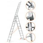 Трехсекционная лестница Гранит 3х10