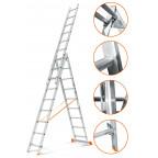 Трехсекционная лестница Гранит 3х9